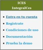 Imagen del menú de IntegralCES en la web de la Ecored Milaguas EsTeruel
