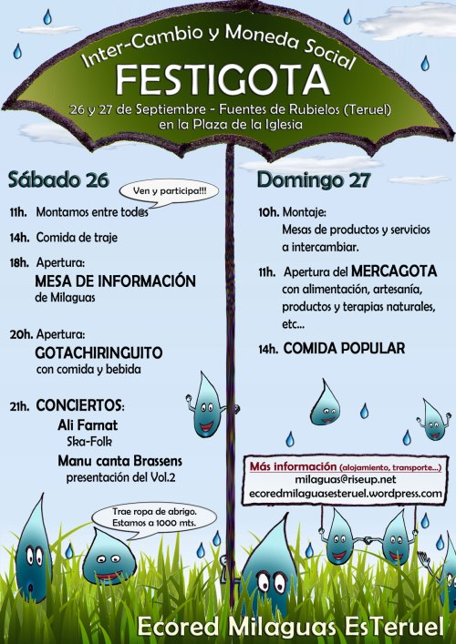 Cartel Festigota 2015 en Fuentes de Rubielos (Teruel) el 26 y 27 de Septiembre.