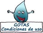 Botón de condiciones de uso de las Gotas